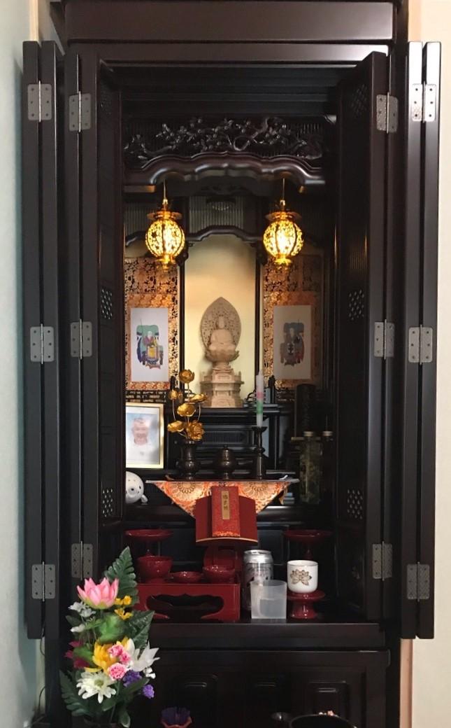 お仏壇納品【村上市 N様】2021.10.14担当:熊倉 お家のリフォームに合わせてお仏壇を新しくされました。